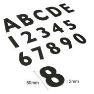 亞加力立體數字 / 字母牌 (黑色啞面 / 50mm字高)