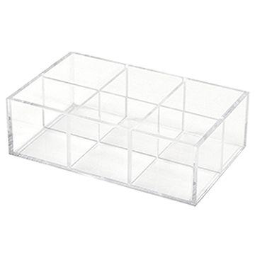 亞加力膠陳列盒 (6格/活動式間隔)