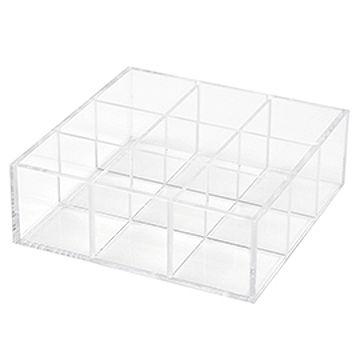 亞加力膠陳列盒 (9格/活動式間隔)