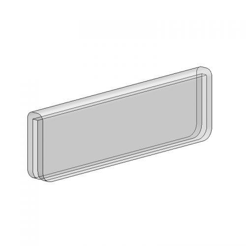 亞加力一字頂扣 (夾3mm板/W100 x D10 x H30mm)