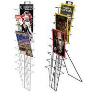 兩用9層金屬網狀雜誌架 (掛牆 / 坐地)