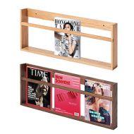 掛牆式實木雜誌圖書架 (W90 x D7 x H30cm)