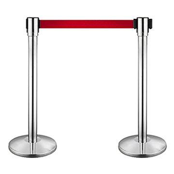 伸縮帶欄杆座 Queue Stand (銀色電鍍面 / 1條)