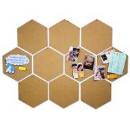 拼接式六邊形自貼水松板 (345 x 300mm / 10塊裝)