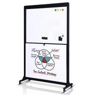 上下推拉式雙板四面活動式白板綠板(W120xH175cm)