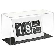 訂造: 透明亞加力展示箱/模型盒 (啞黑色底座)