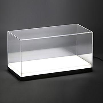 訂造: 透明亞加力展示箱/模型盒 (LED 燈發光底座)