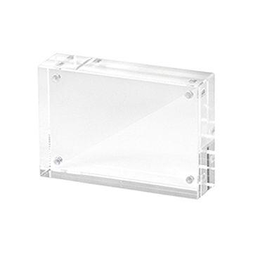 訂做: 亞加力透明水晶相架 (磁石開合)