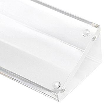 訂做: 透明亞加力斜面水晶展示台 (磁石夾紙)